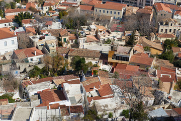 Roof tops at anafiotika area in athens