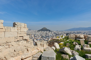 Lycabettus hill view from Acropolis