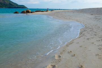 White sand beach seascape