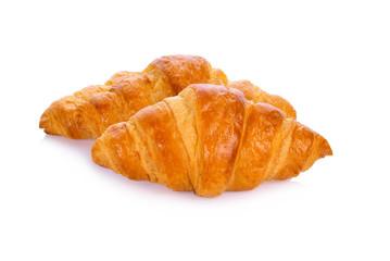 Mini croissant isolated on white background
