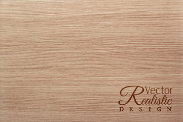 Vector white oak texture background. Realistic design