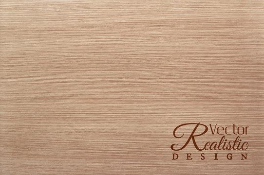 Vector white oak texture background. Realistic design