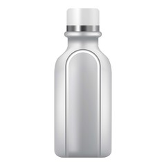 Plastic bottle icon, realistic style