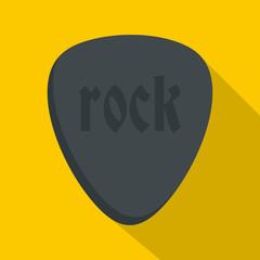 Rock stone icon, flat style