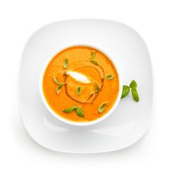 Carrot vegetable cream soup