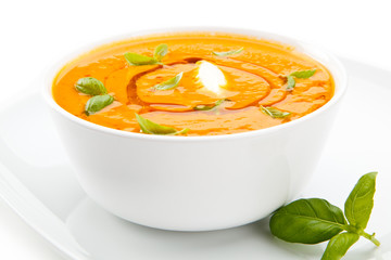 Carrot vegetable cream soup