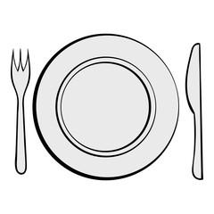 Wedding utensils icon cartoon