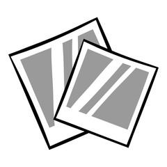 Retro photo frame polaroid icon cartoon