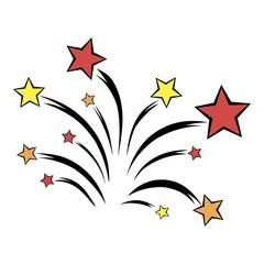 Firework icon cartoon