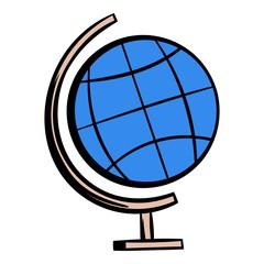 School geographical globe icon cartoon