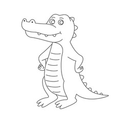 Crocodile for coloring book