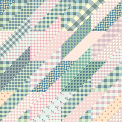 Geometrical patchwork pattern