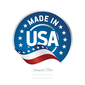Made in USA label logo stamp quality certified