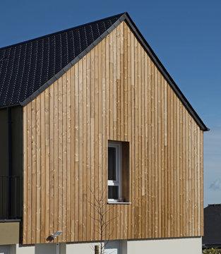 Bardage bois d'une façade de maison