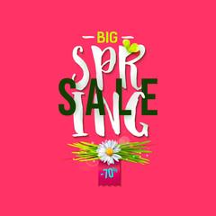 Big Spring sale rose label