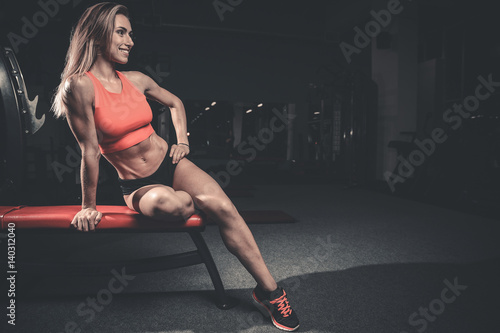 Fitness Sexy Mode On Diet With Long Female Legs Gym