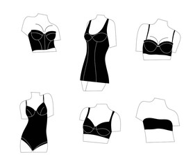 Women bras,underwear for woman set