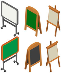 Whiteboards and blackboards in 3D design