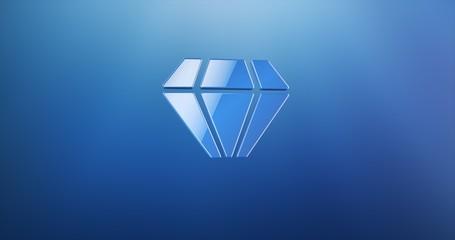Diamond Gem Blue 3d Icon