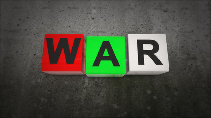The war in the colored squares of war concept. What is war