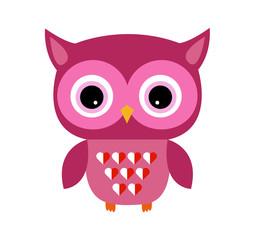 Cute Owl Vector Girl with Heart
