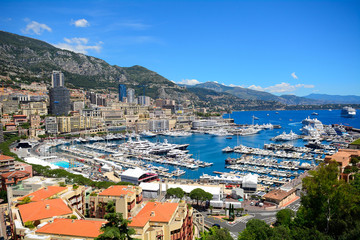 The harbour seen from the palace, Monaco-ville, Monaco