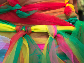 Foto op Plexiglas Paradijsvogel colorful ribbon for pray