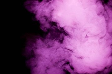 Close up real swirling pink and white smoke background texture / Abstract photography