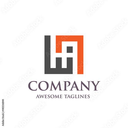 creative letter ha logo abstract business logo design template