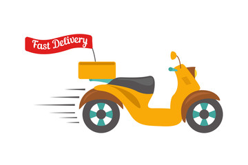 Fast delivery logo. Food delivery design.