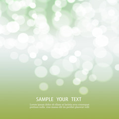 Abstract bokeh background with space for text.