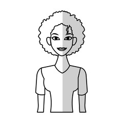 Handsome woman cartoon icon over white background. vector illustration