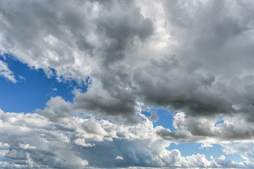 Cloudy Blue Sky as Background.