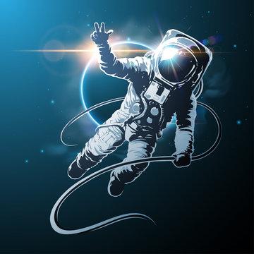 astronaut in space illustration