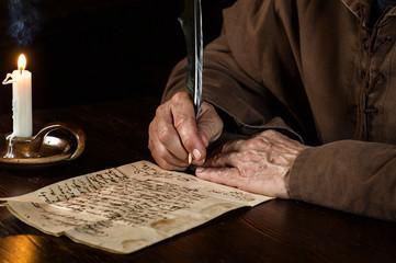 Briefschreiber im Mittelalter