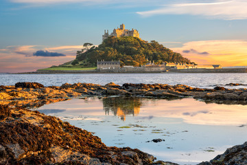 St Michael's Mount in Cornwall Wall mural
