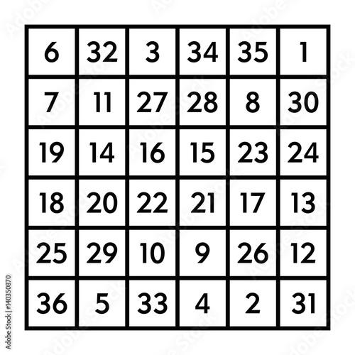 how to make a 6x6 magic square