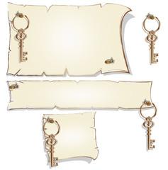 Empty frame with keys