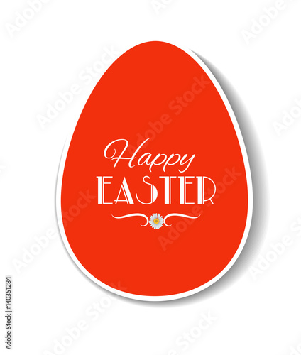 easter card template design paper label in shape of egg with
