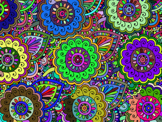 Abstract floral pattern.Vector
