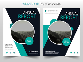 Blue circle Vector business proposal Leaflet Brochure Flyer template design, book cover layout design, abstract business presentation template, a4 size design