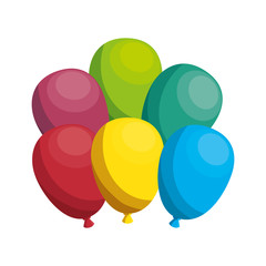 balloons air party icon vector illustration design