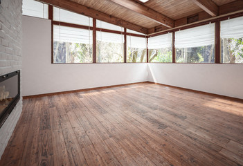 Spacious empty living-room