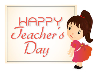 creative vector abstract, banner or poster for Happy Teacher's Day with nice and beautiful design illustration.