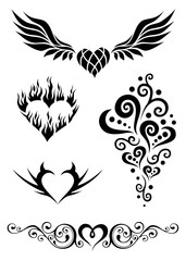 Tribal hearts tattoos