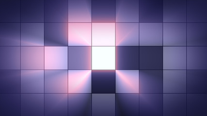 Background light squares blink. Club atmosphere. Shine