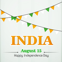 creative vector abstract, banner or poster for Independence Day of India with nice and beautiful design illustration, 15th of August.