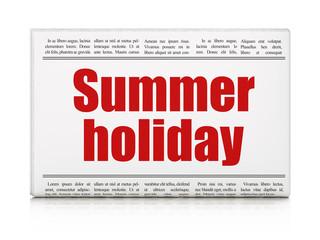 Tourism concept: newspaper headline Summer Holiday
