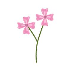 pink flower decoration branch sketch vector illustration eps 10