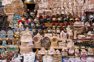 souvenir stall, rome, italy